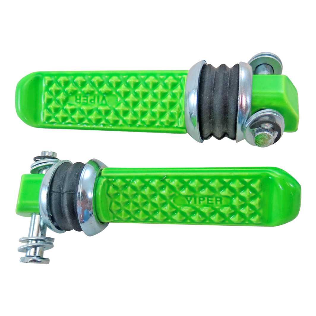 Pedaleira Traseira Aluminio TITAN 125 0-4 Verde Neon