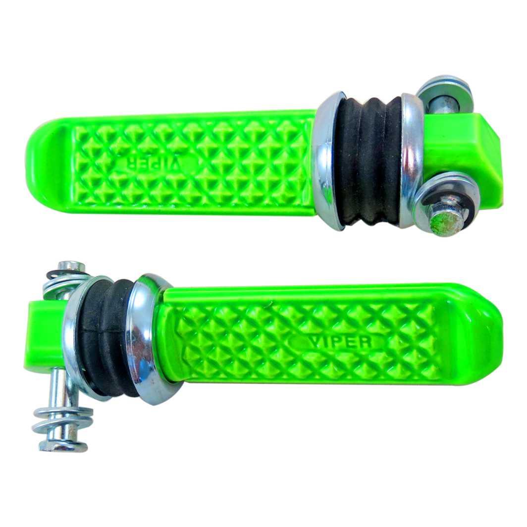 Pedaleira Traseiro Aluminio CBX 250/CB 300 Verde Neon