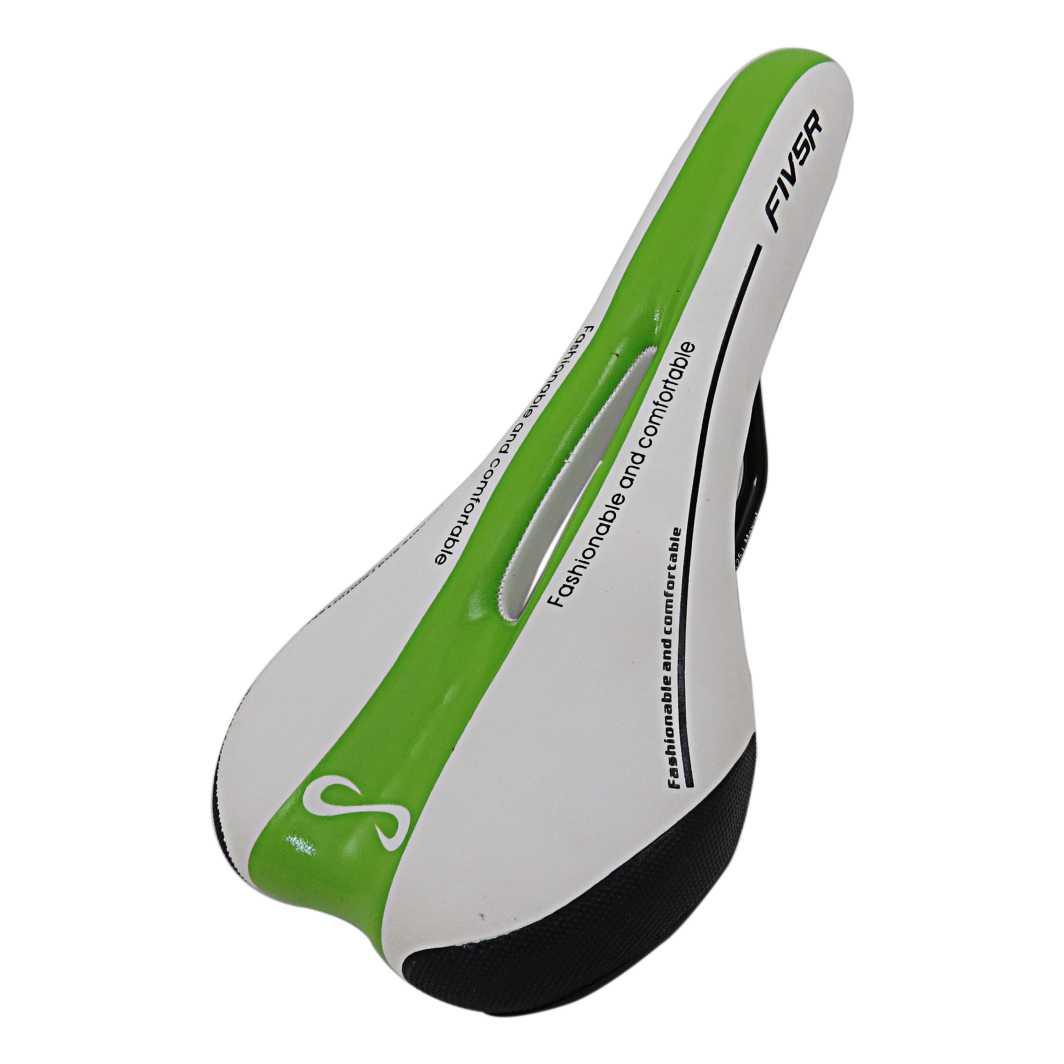 Selim MTB QH1024 Fashion Branco Preto/Verde
