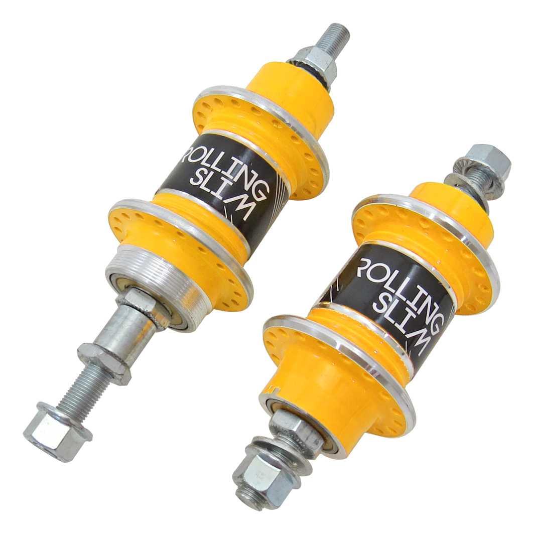 Cubo Dianteiro/Traseiro Aluminio Rolling c/Rolamento Amarelo