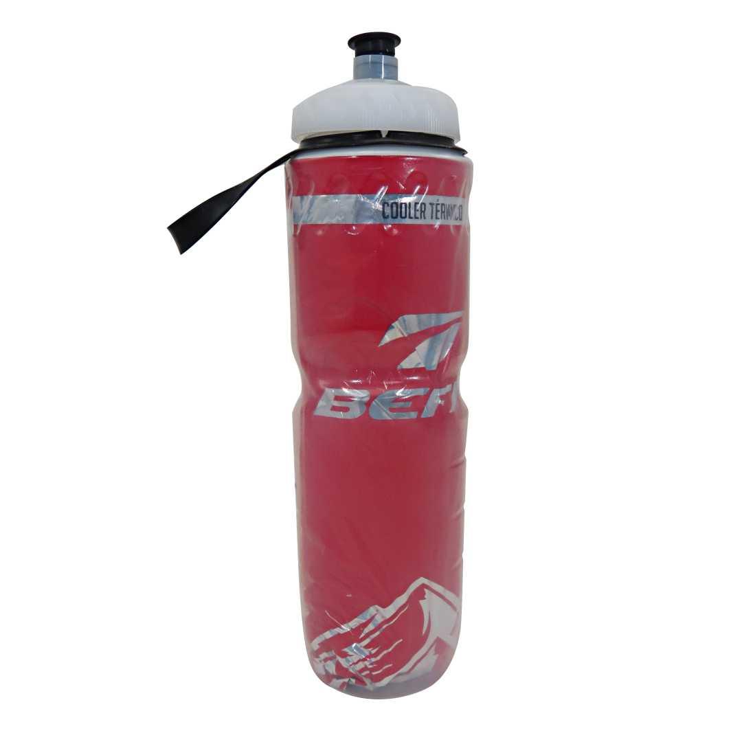 Garrafa Termica 750ml Transparente Vermelha