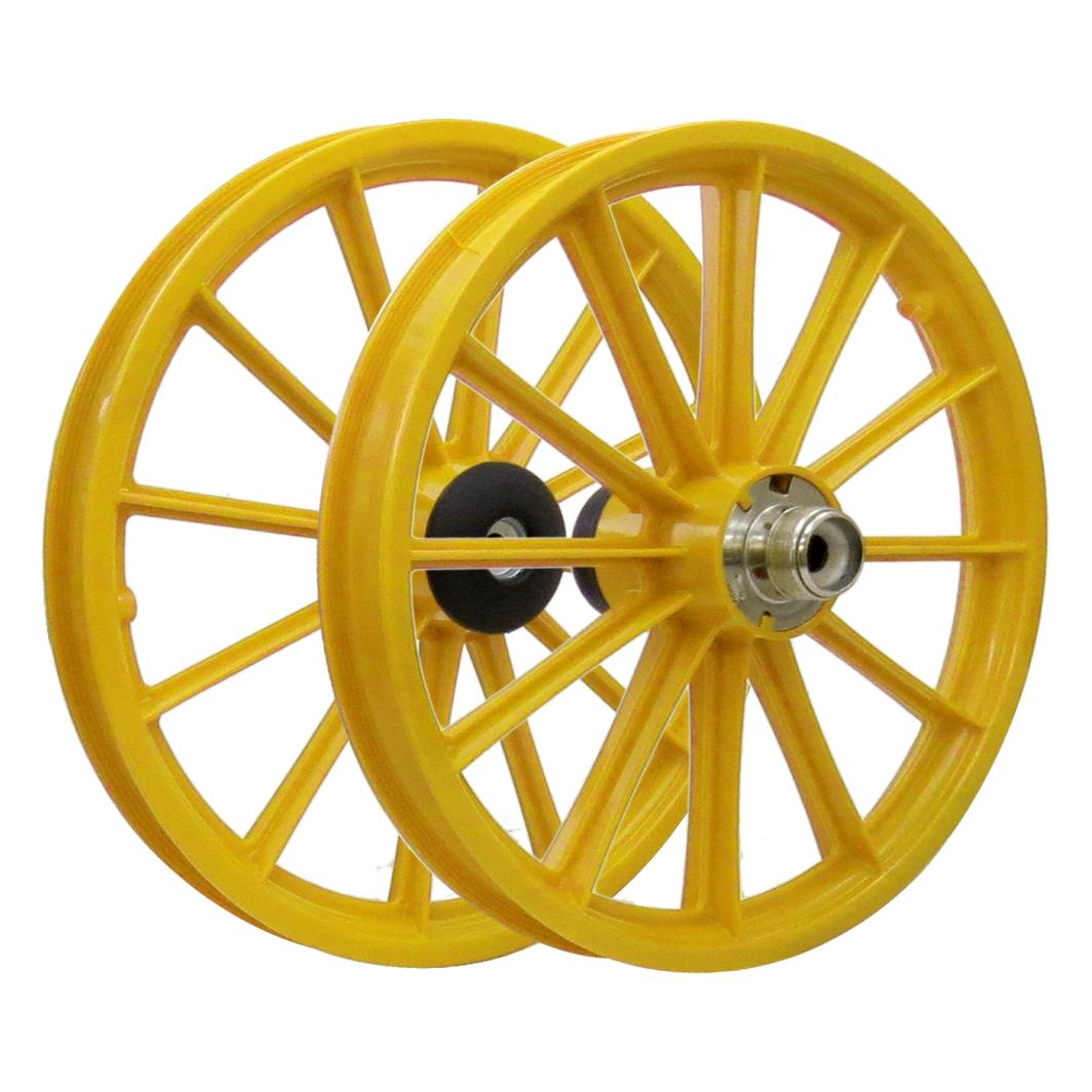 Roda 16 Nylon Raios S/Eixo Amarelo
