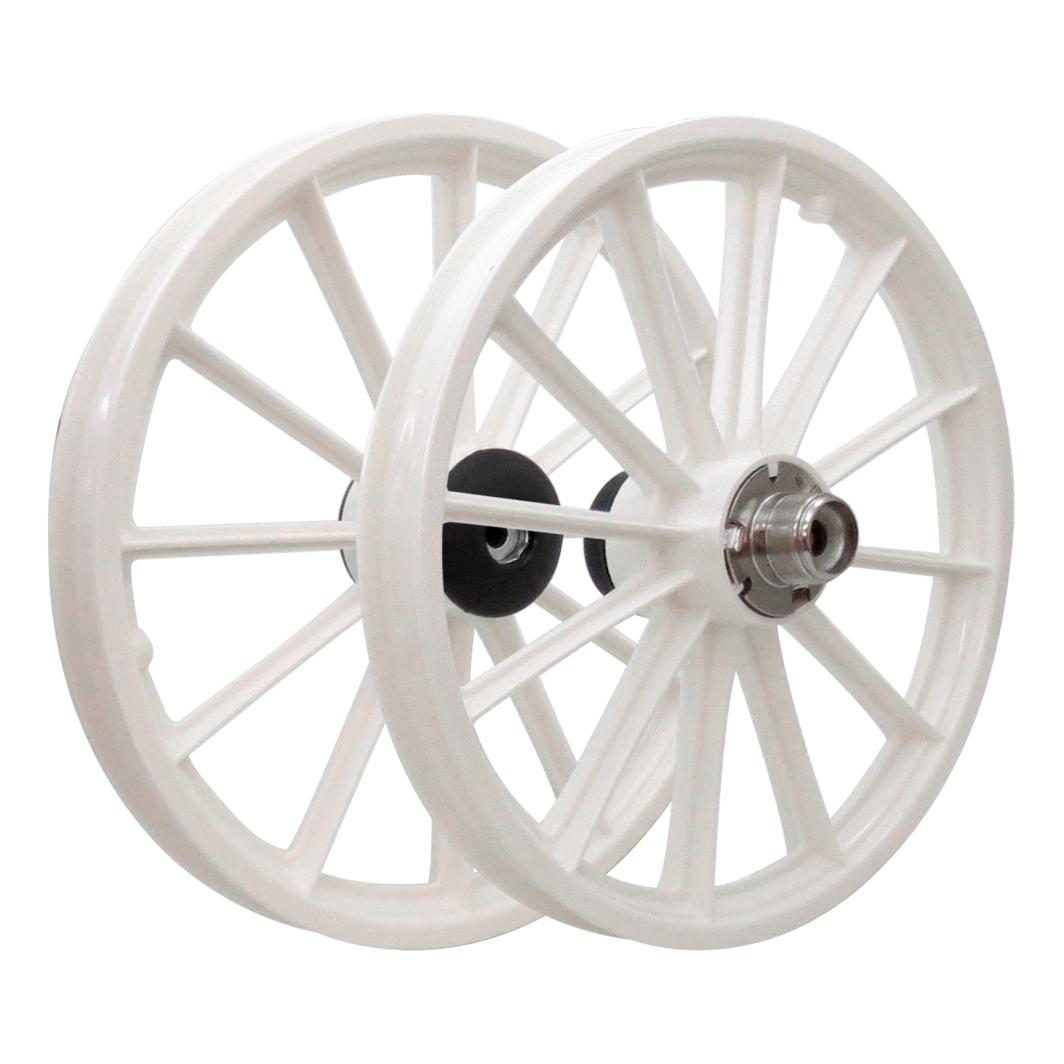 Roda 16 Nylon Raios S/Eixo Branca