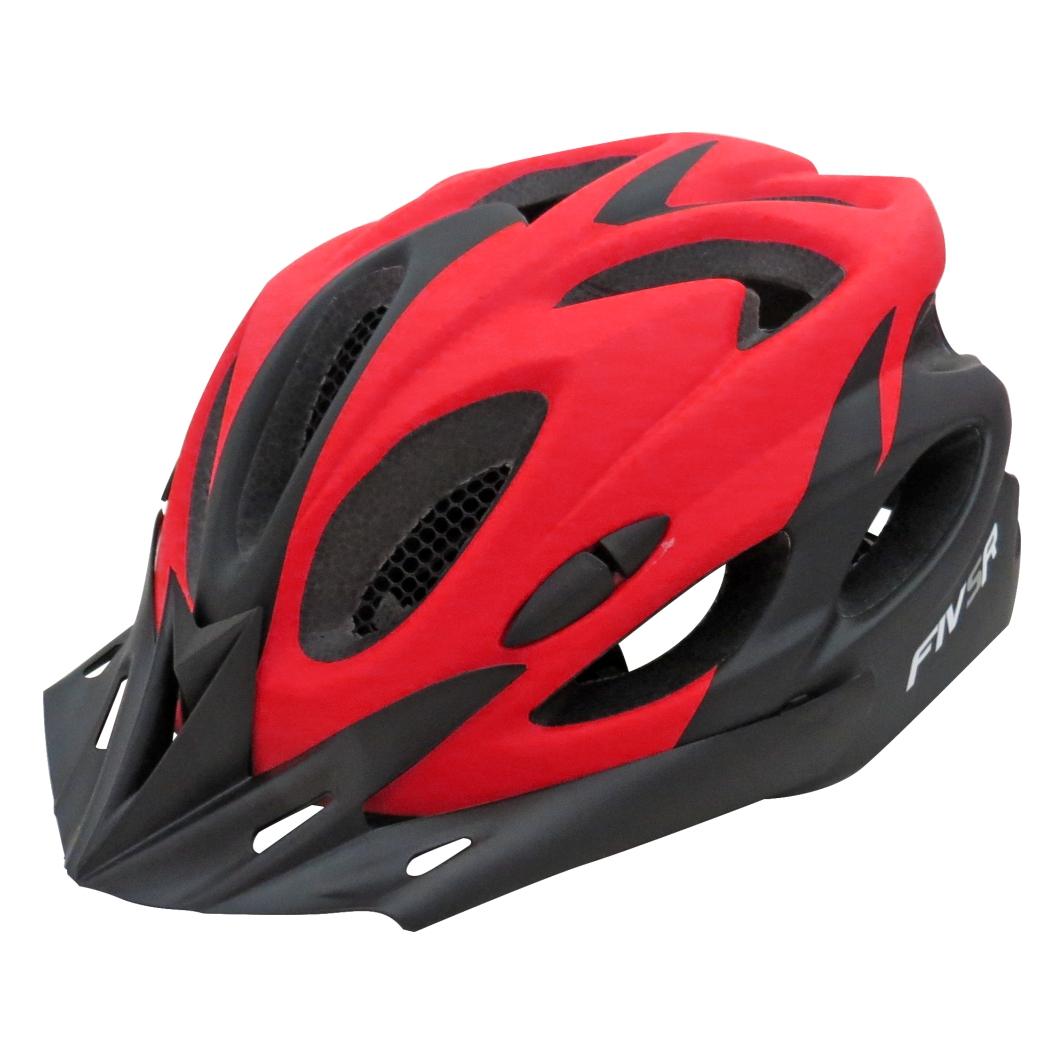 Capacete P/ciclista 2020.1V Preto Fosco/Vermelho