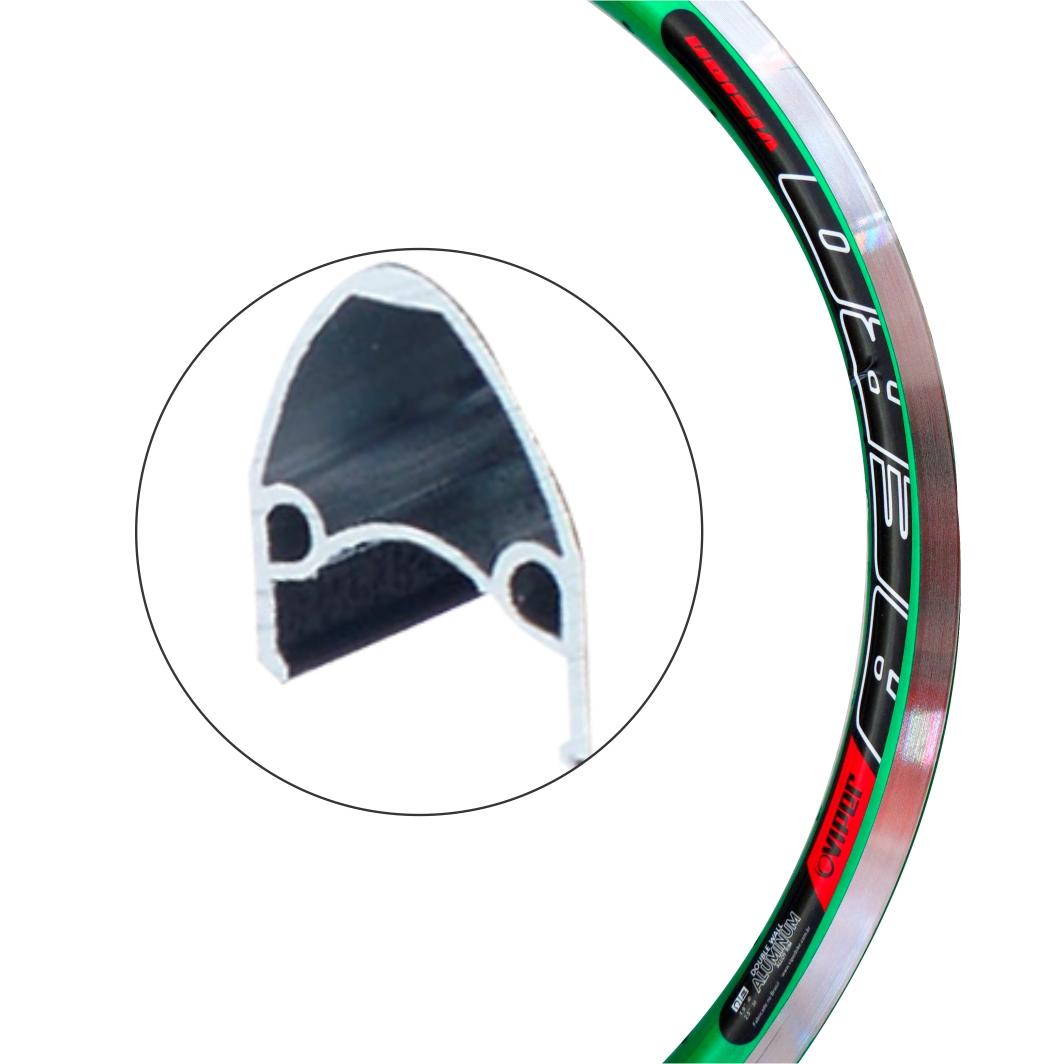 Aro Aluminio 20 Vision Verde