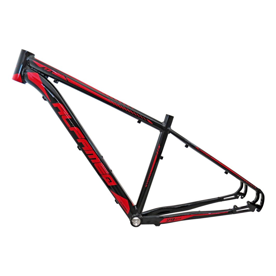 Quadro 29 Aluminio ATX 17 Preto Vermelho
