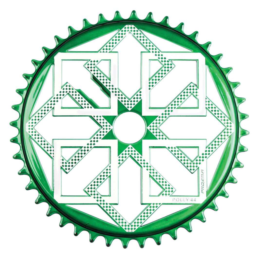 Engrenagem 44D Polly verde/Prata
