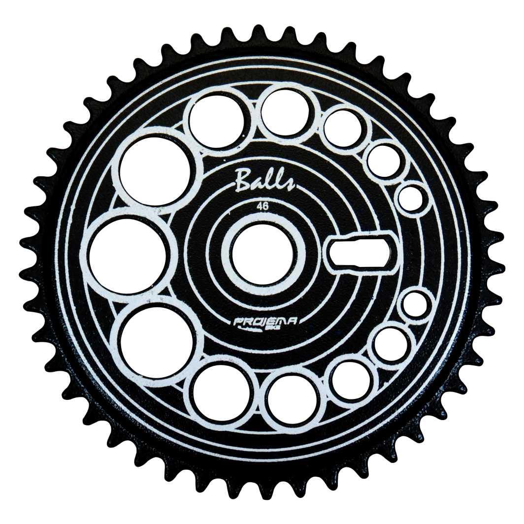 Engrenagem 46D Balls Preta/Prata