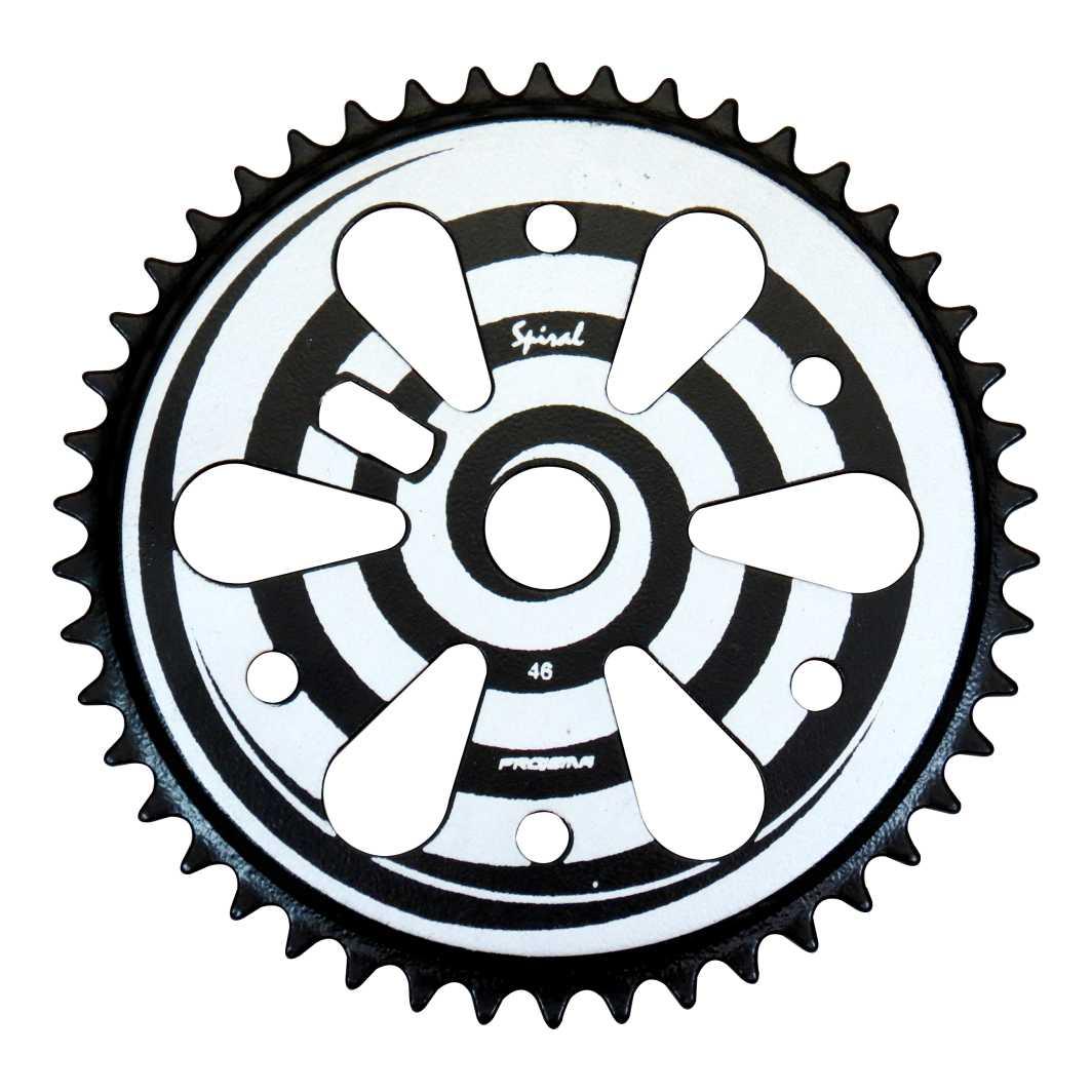Engrenagem 46D Spiral Preta/Prata