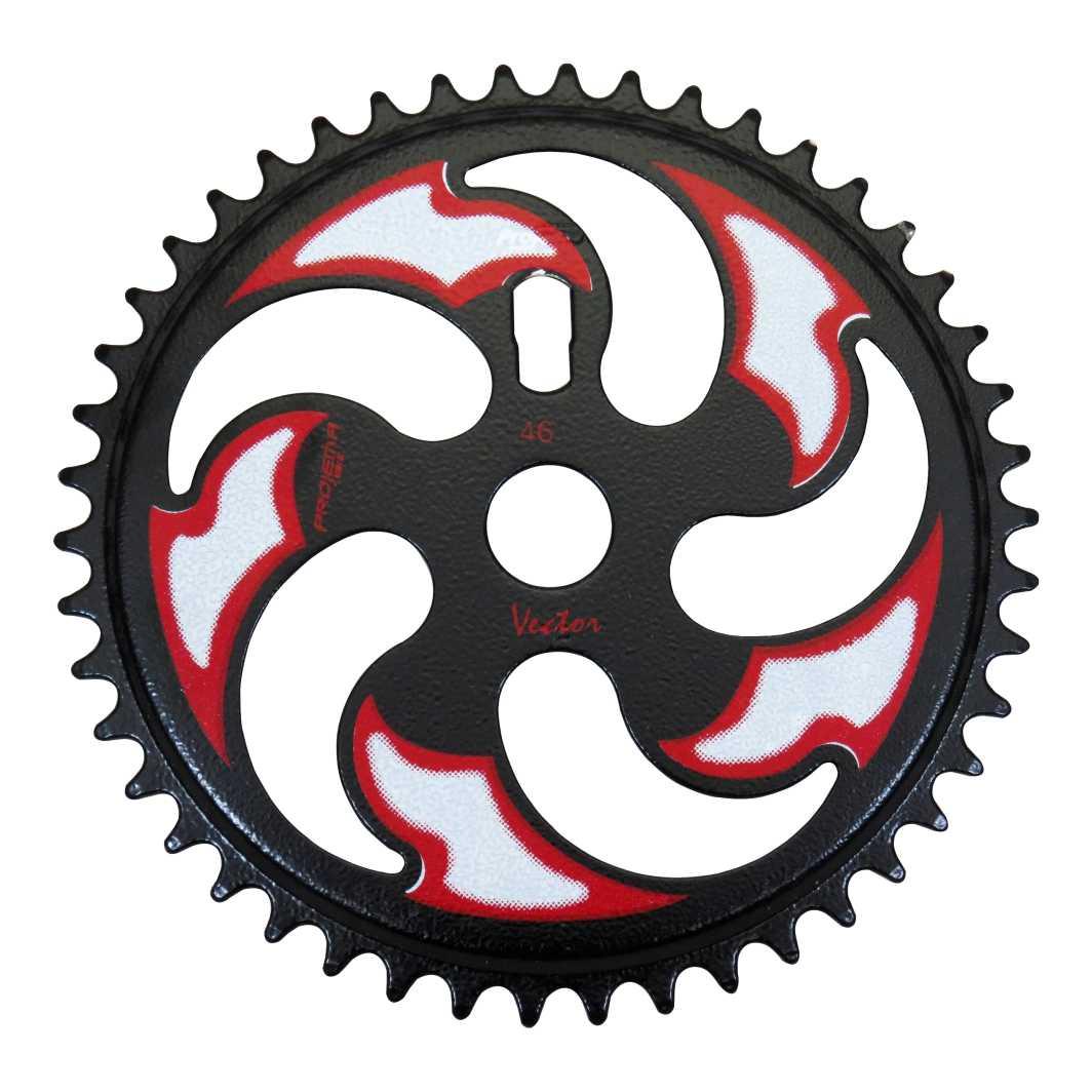 Engrenagem 46D Vector Preta/Branca/vermelha