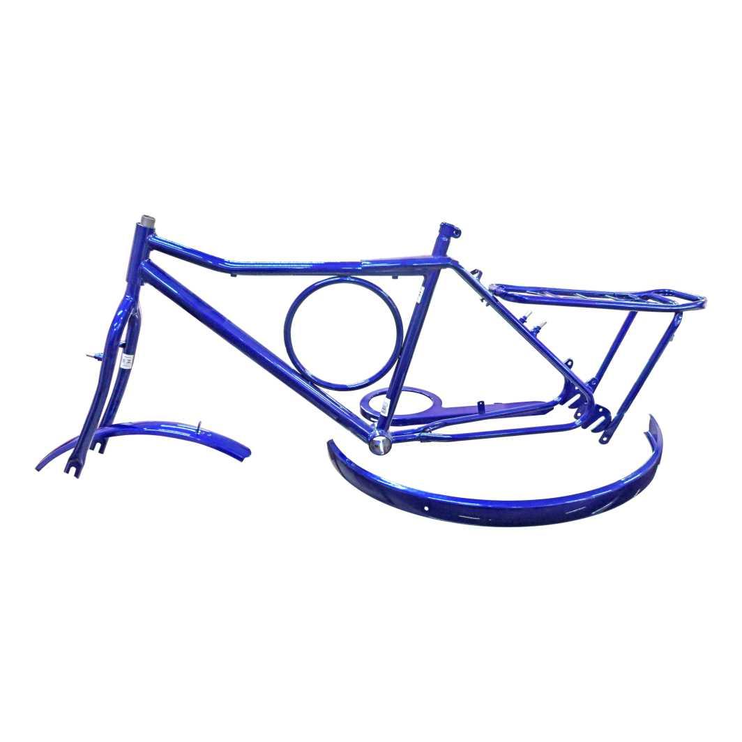 Kit 26 T/Barra Circula Cante Azul Metálico
