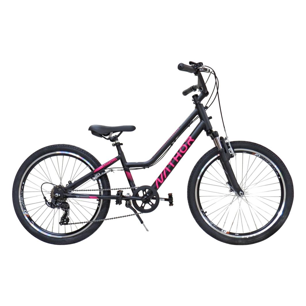 Bicicleta Aro 24 BELLA Preta/Rosa