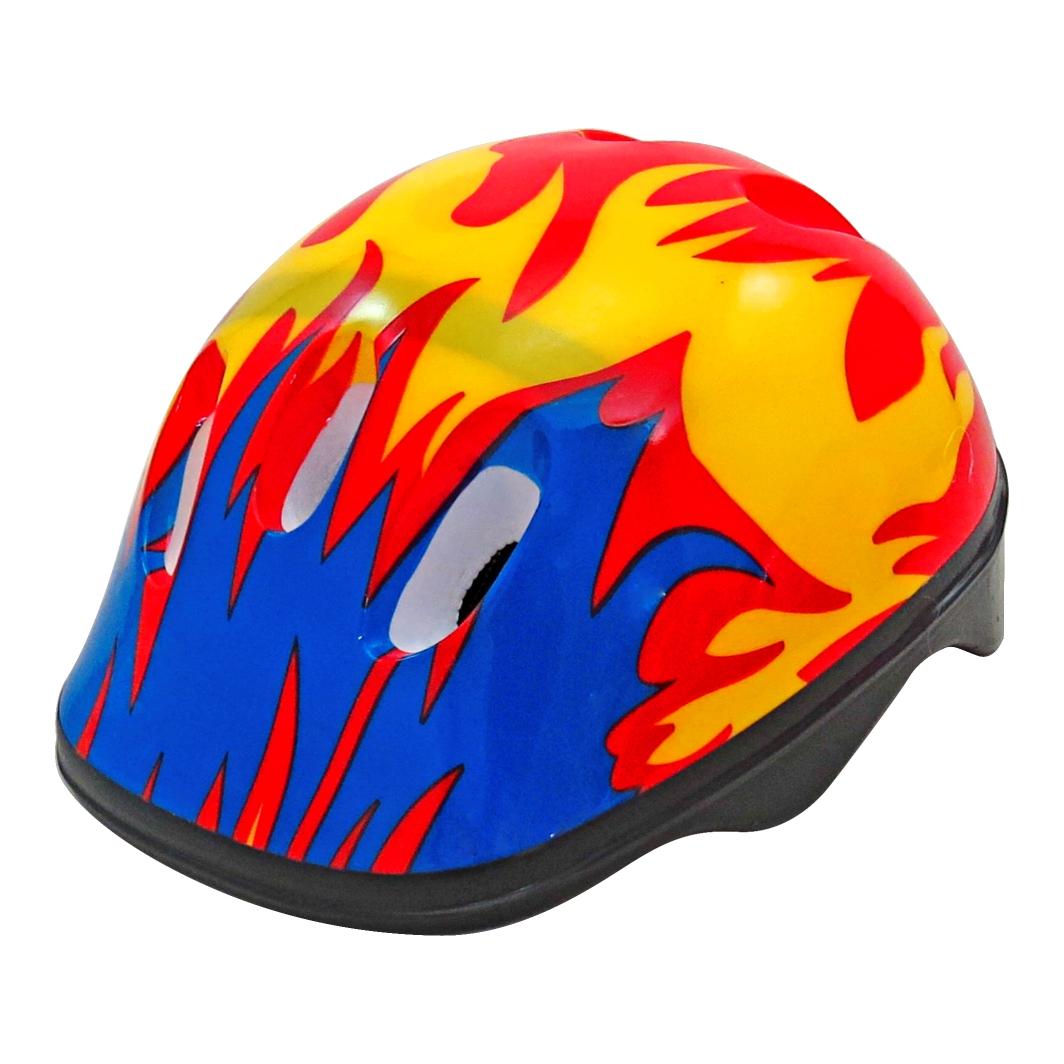 Capacete P/Ciclista Infantil Fogo Vermelho