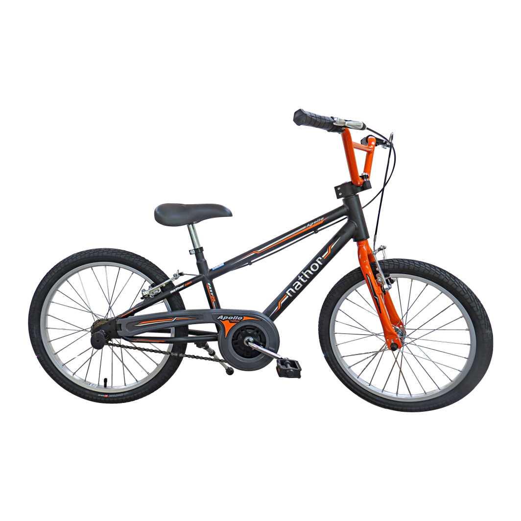 Bicicleta Aro 20 Apollo Preto/Laranja