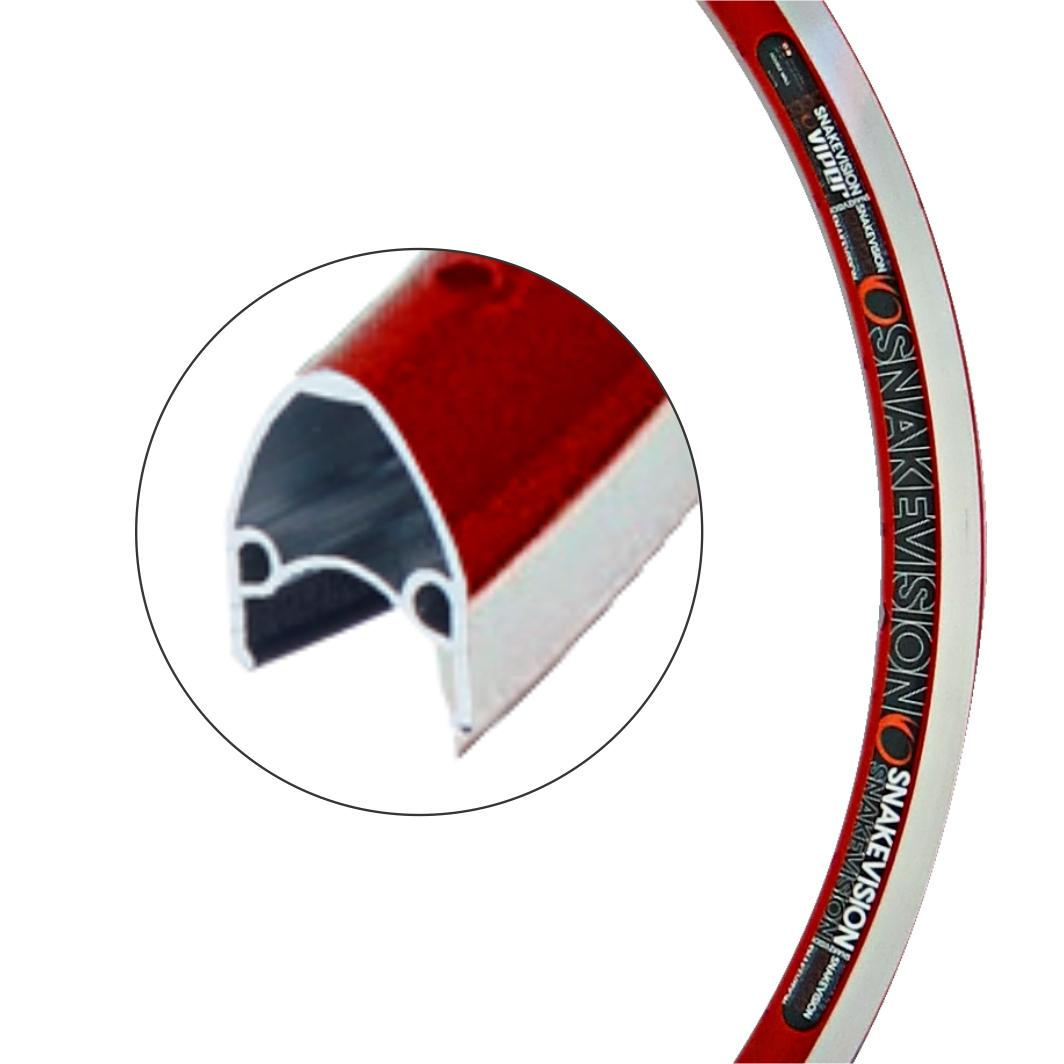 Aro Aluminio 26x1.1/2 Snakevision Vermelho