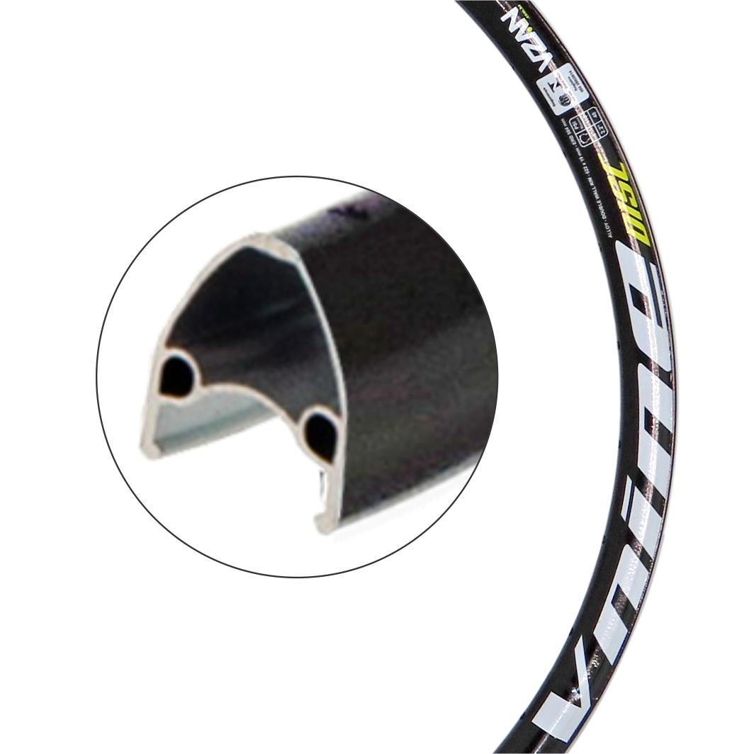 Aro Aluminio 29 Vnine 36 Furos Disco Preto S/Ilhos