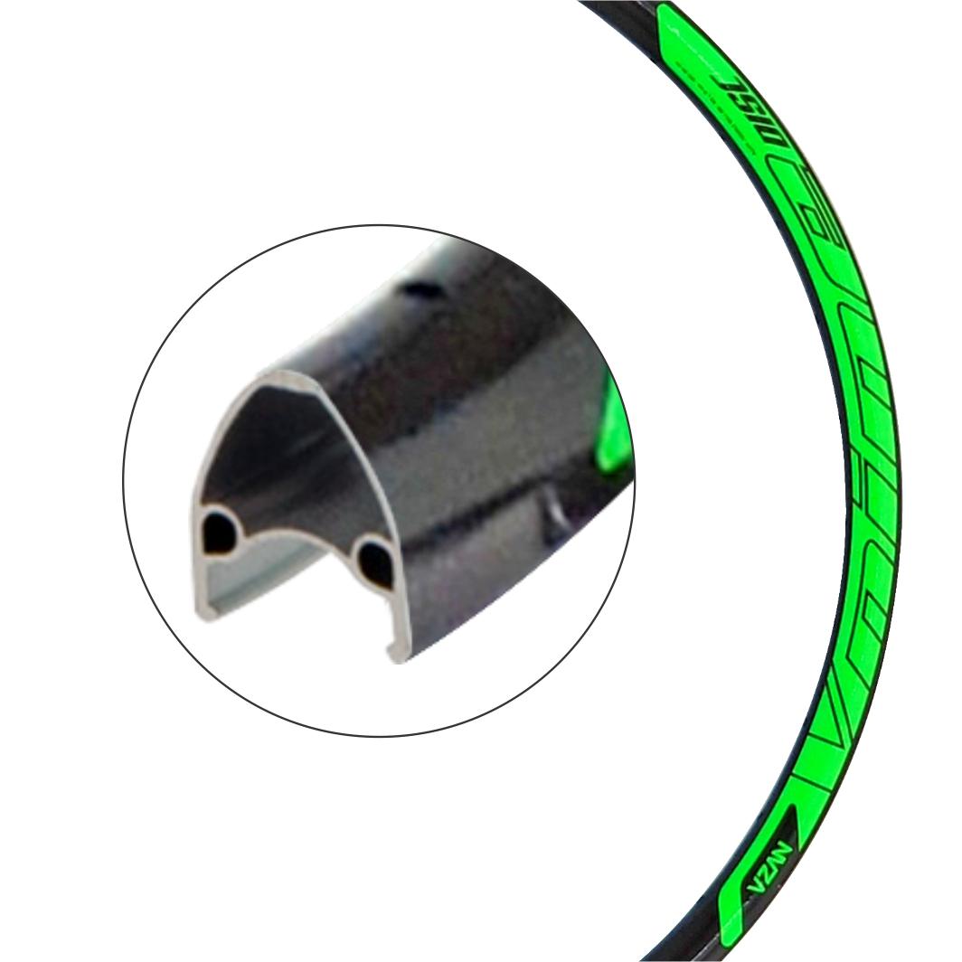 Aro Aluminio 29 Vnine 36F Disco Preto/Neon Verde