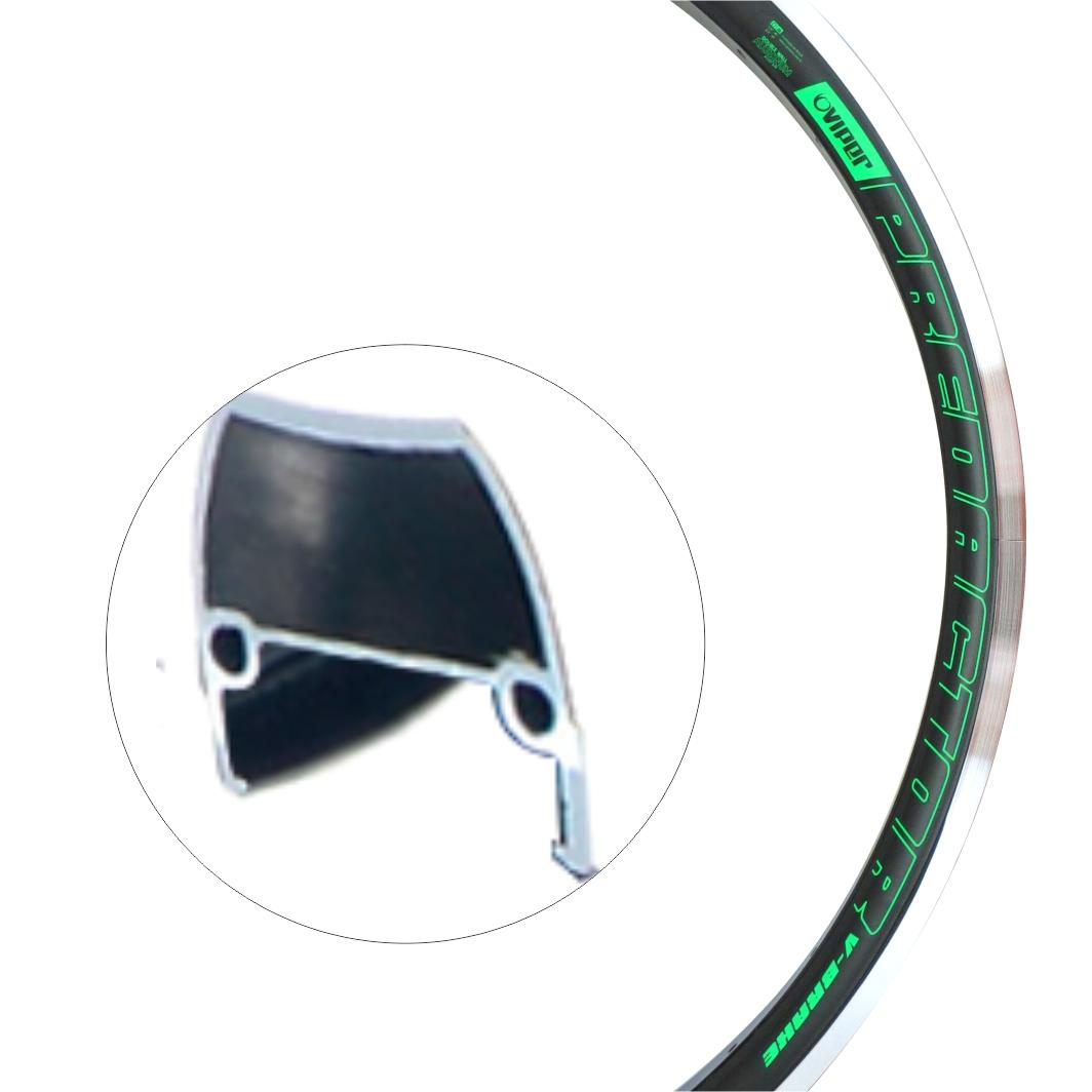 Aro Aluminio 26 Predador Preto C/Neon Verde