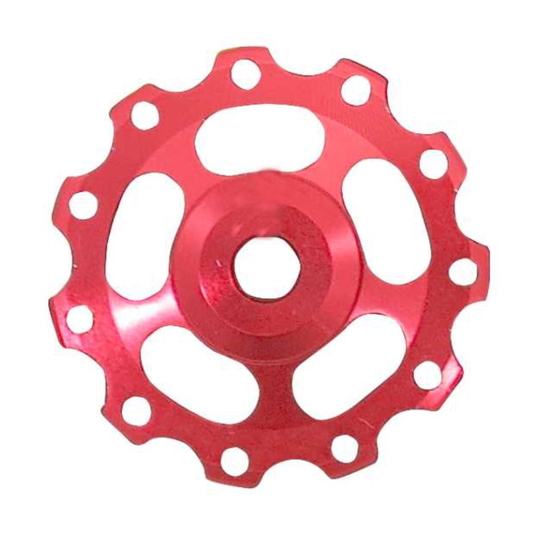 Roldana Cambio Aluminio C/Rolamento Vermelha