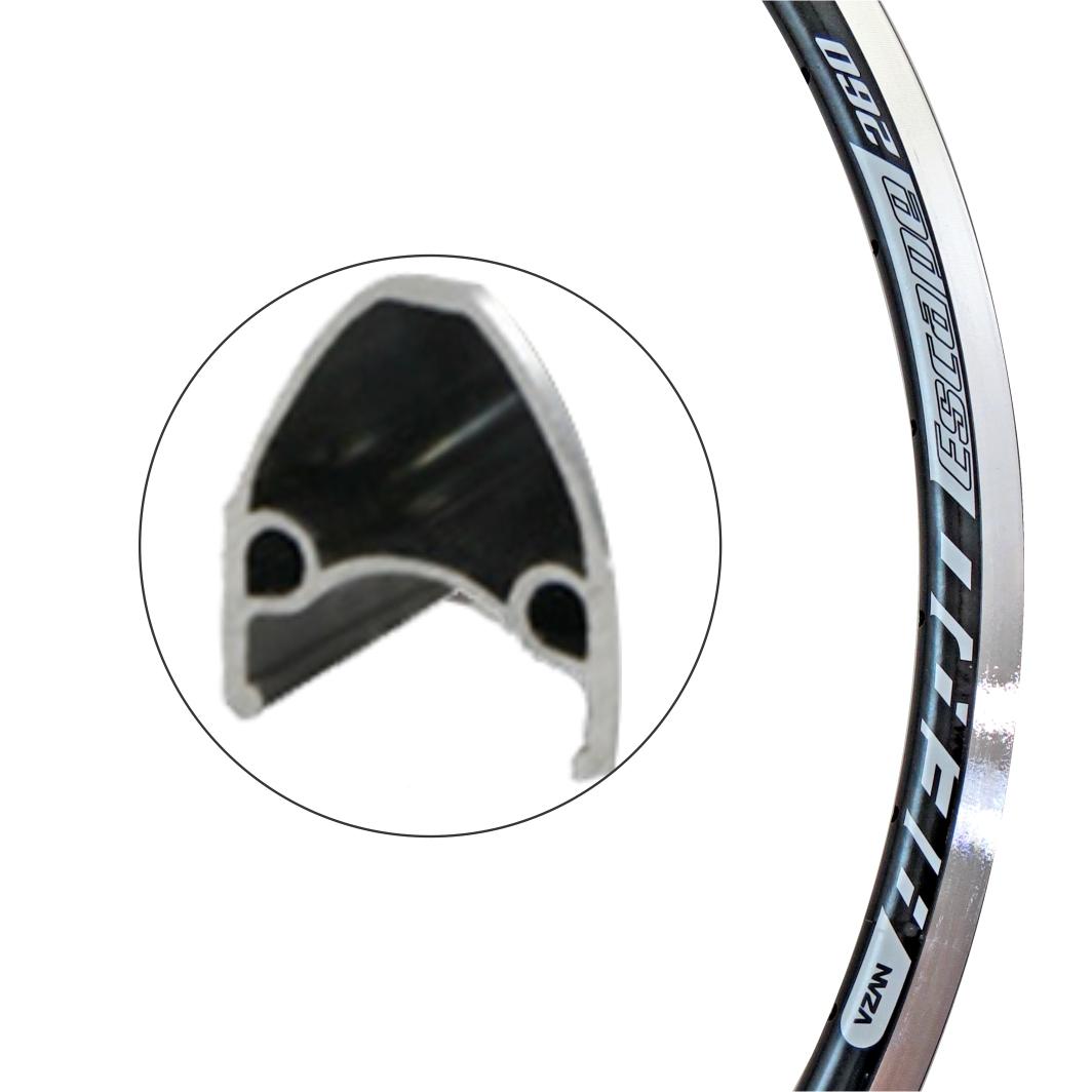 Aro Aluminio 29 Vnine 36F V-Brake Preto/Branco