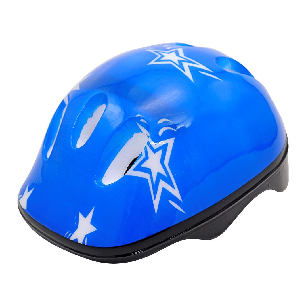 Capacete P/Ciclista Infantil Estrela Azul/Branco