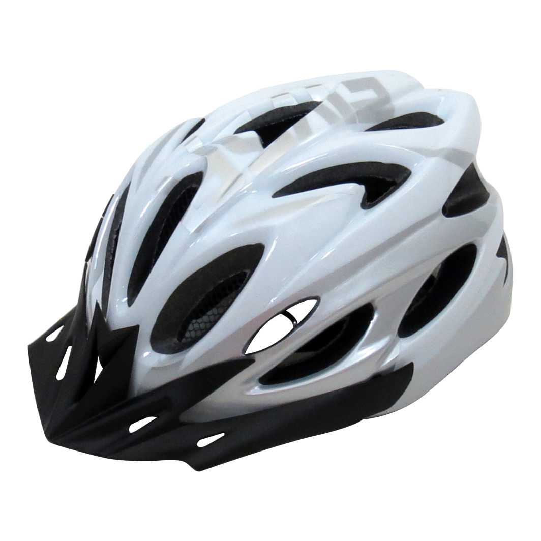 Capacete P/Ciclista 2020.1 Braco/Prata C/Led
