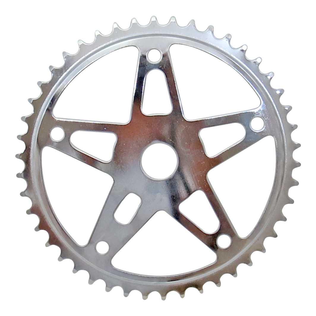 Engrenagem 46D Cromado Estrela Grossa 2.3mm