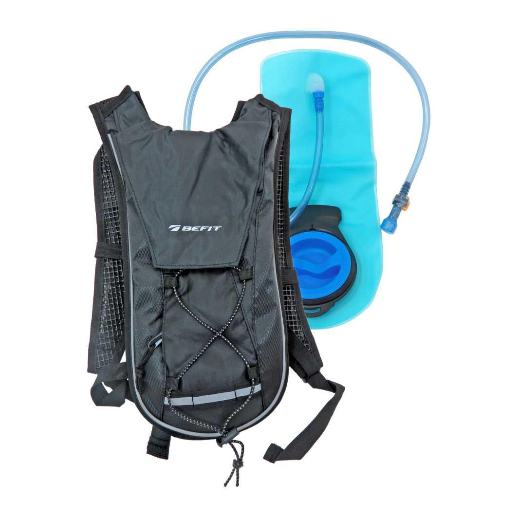 Bolsa P/Hidratacao 2 Litros Preta C/Refletor