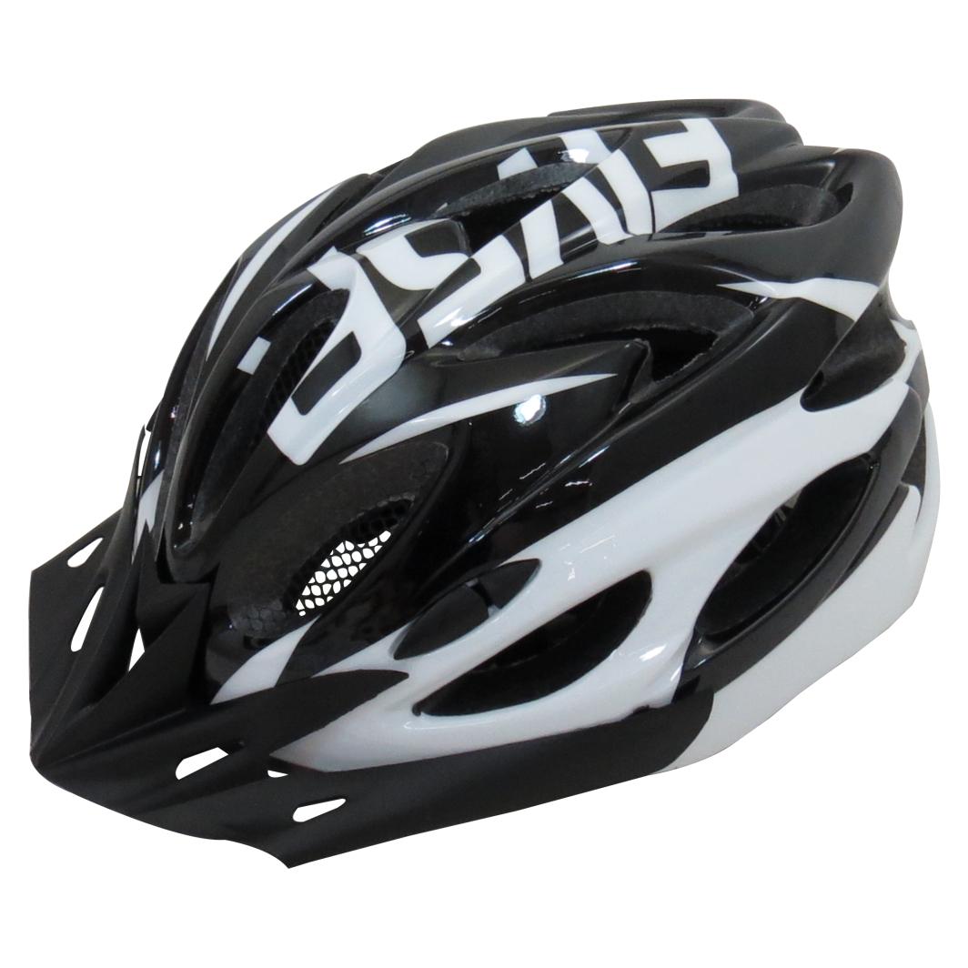 Capacete P/Ciclista 2020.1 Preto/Branco C/Led