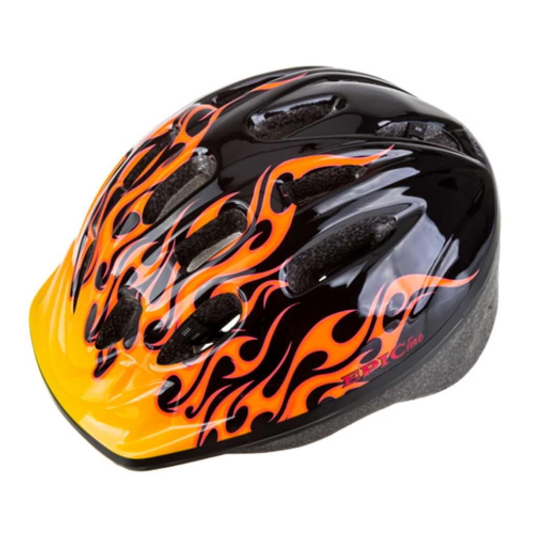 Capacete P/Ciclista Infantil Fogo Preto