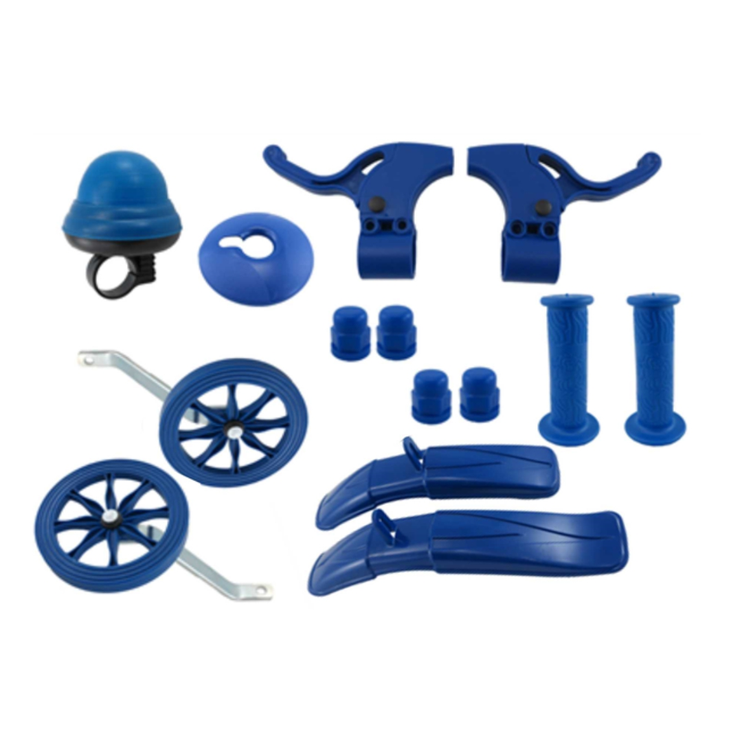 Kit 16 Acessórios Plásticos S/Roda Azul