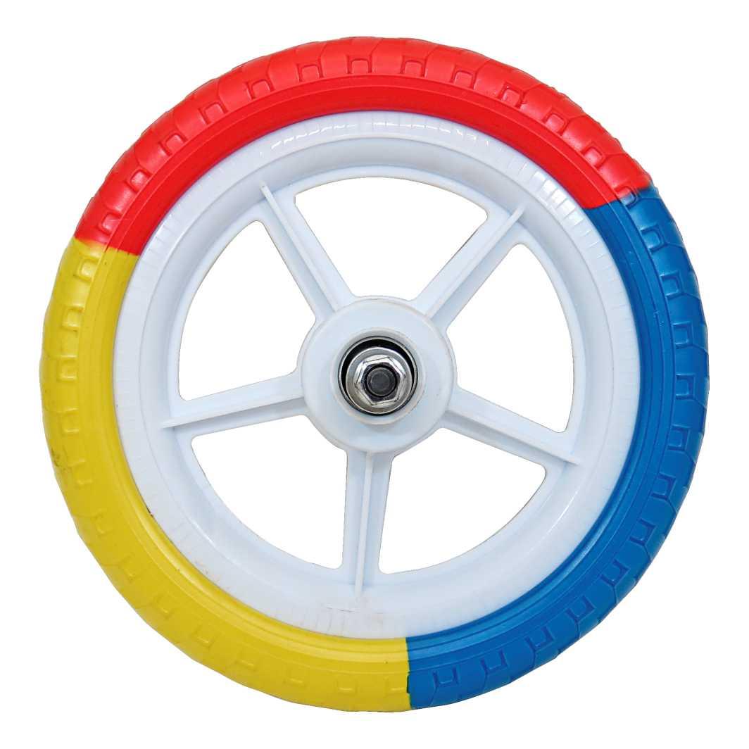 Roda 12 Nylon Colorida Traseira Completa
