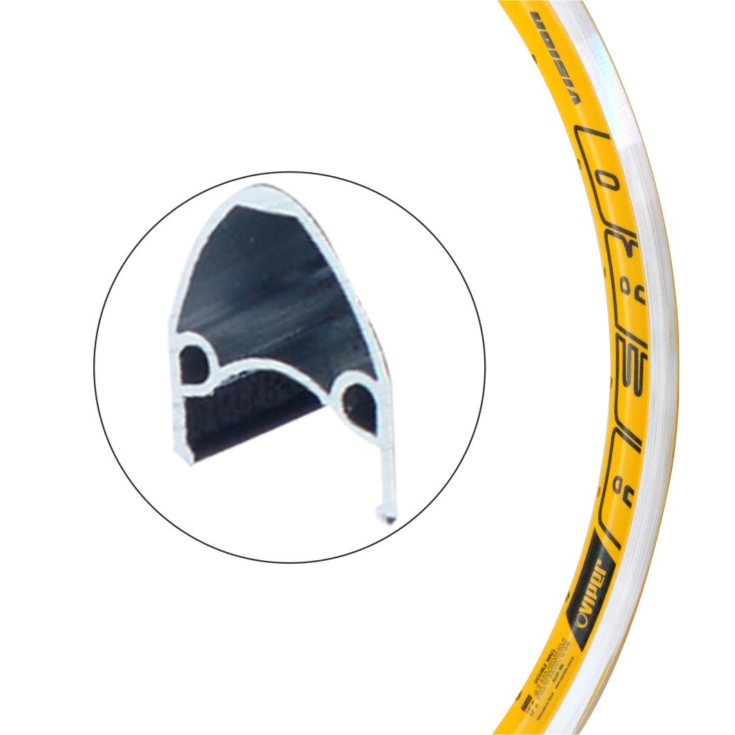 Aro Aluminio 24 Vision Amarelo