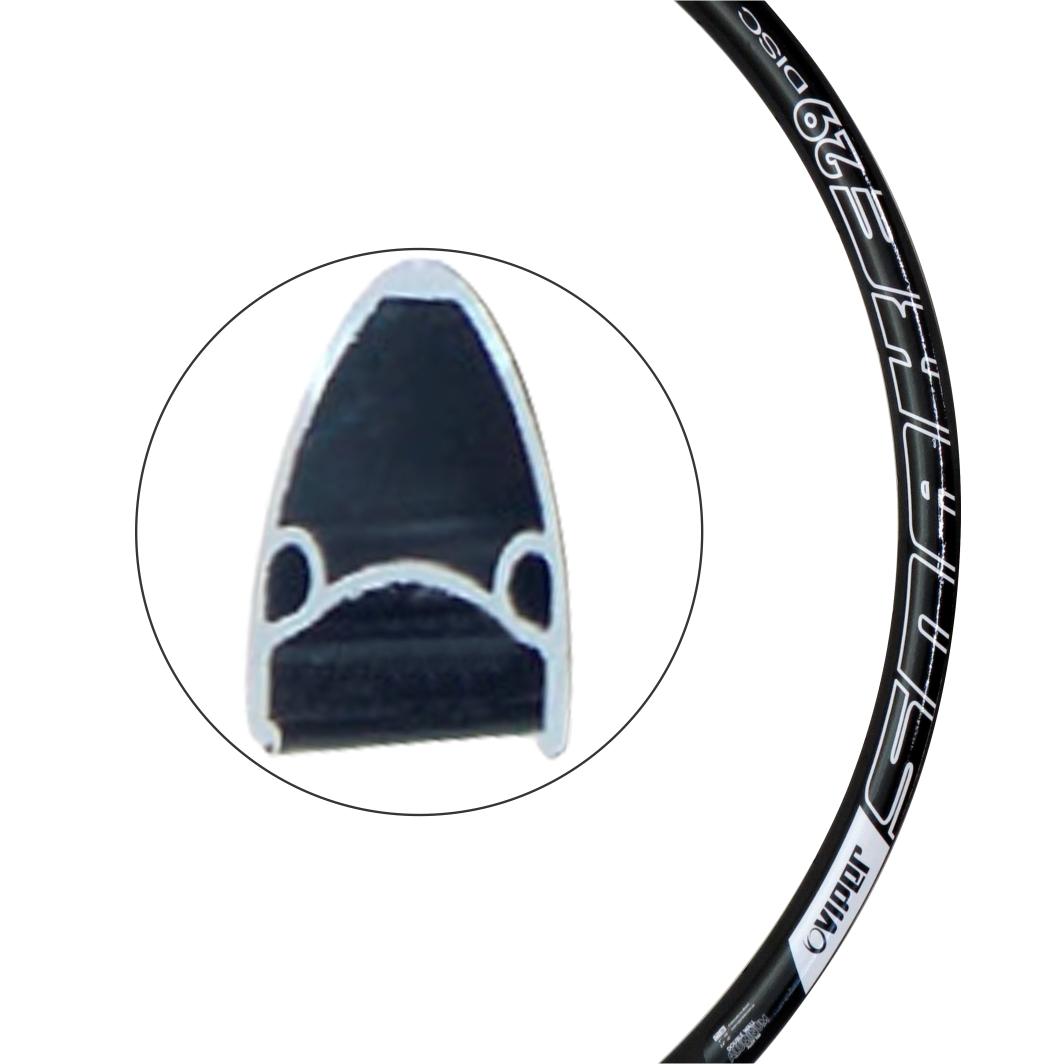 Aro Aluminio 29 Snake 36 Furos Disco Preto Fosco/BR