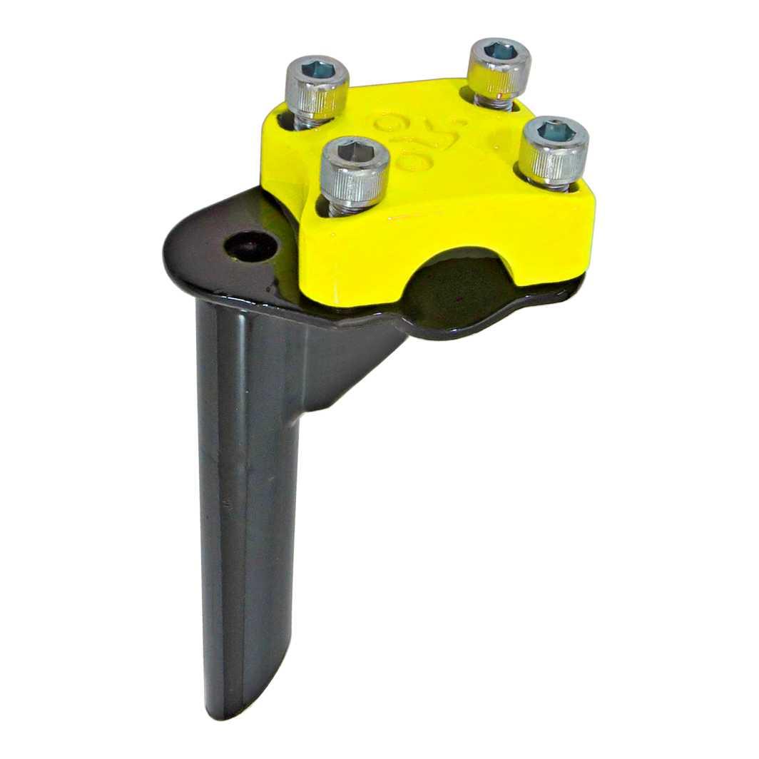 Suporte Guidão Aluminio Aço 4 Parafusos BMX Top-Neon Amarelo