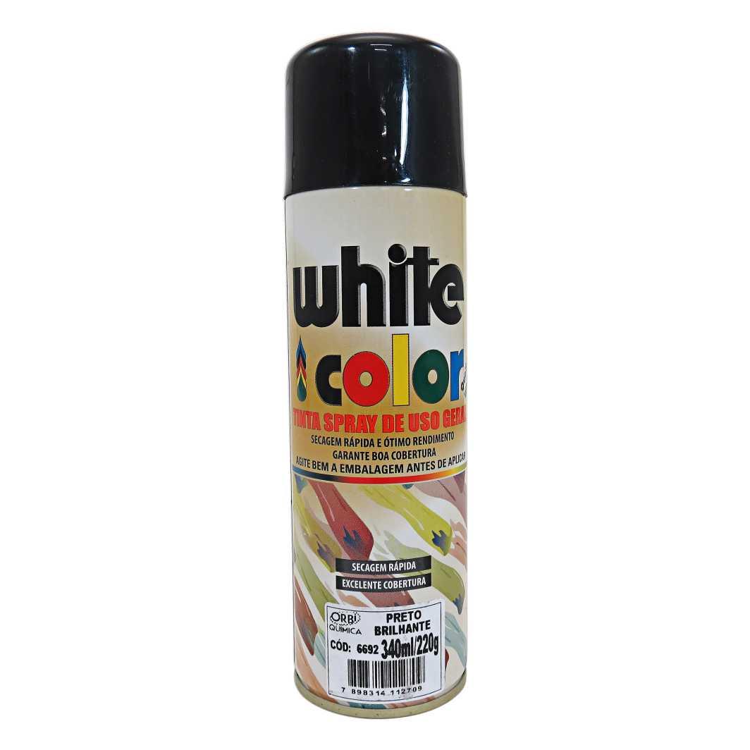 Tinta Spray Preta Brilhante 340ml