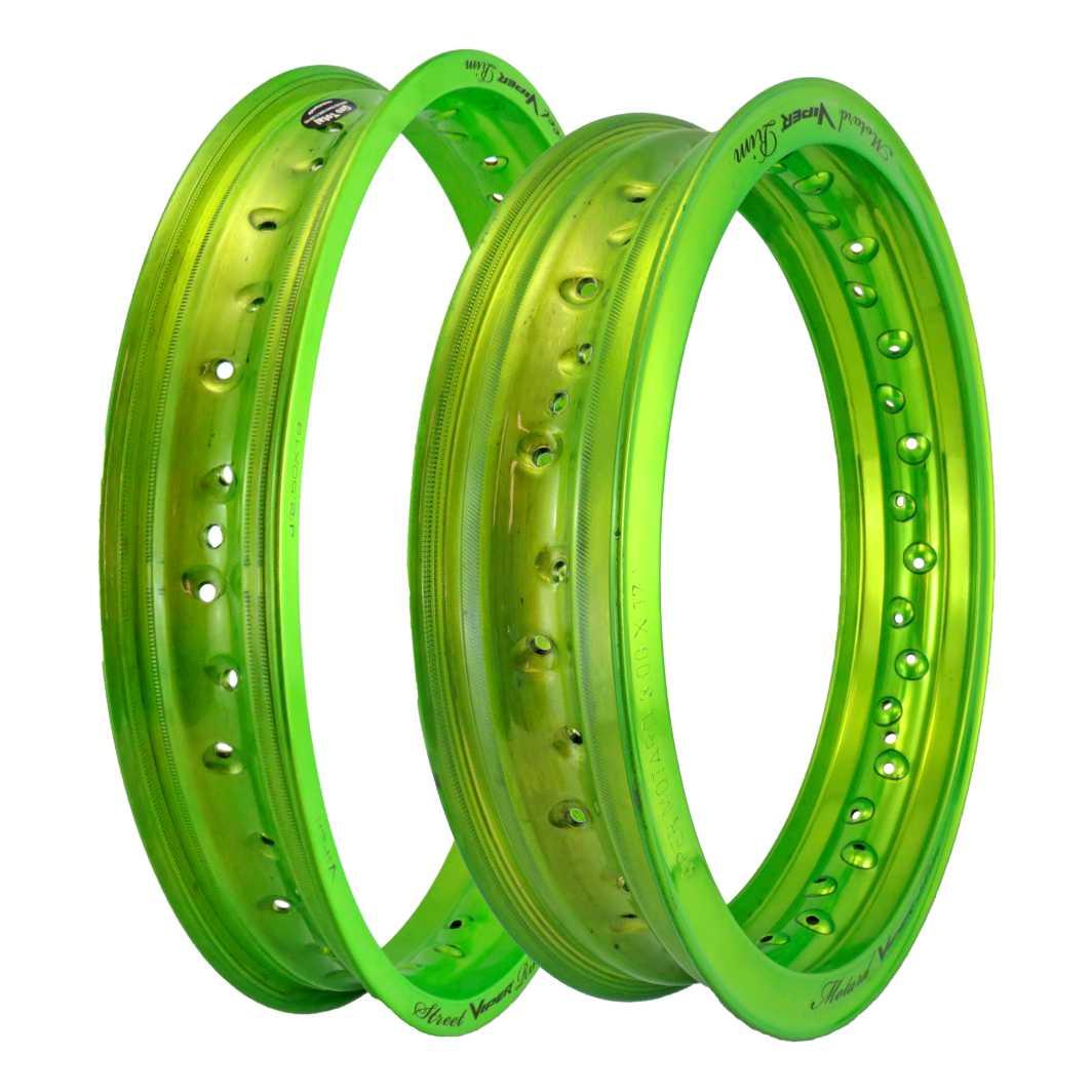 Aro Aluminio DT/TR 250X 17/300X17 Motard Verde