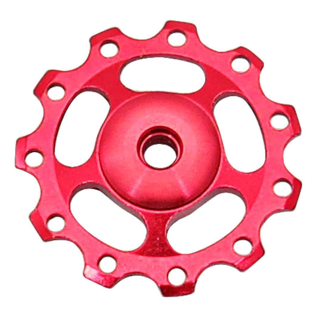 Roldana Cambio Aluminio C/Rolamento Vermelha KL4011