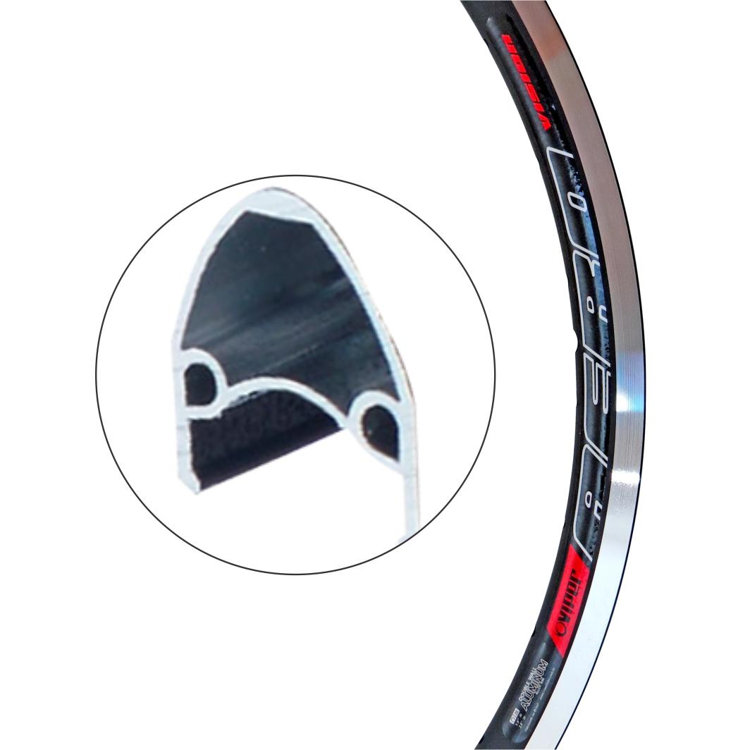Aro Aluminio 26 Vision Preto Fosco
