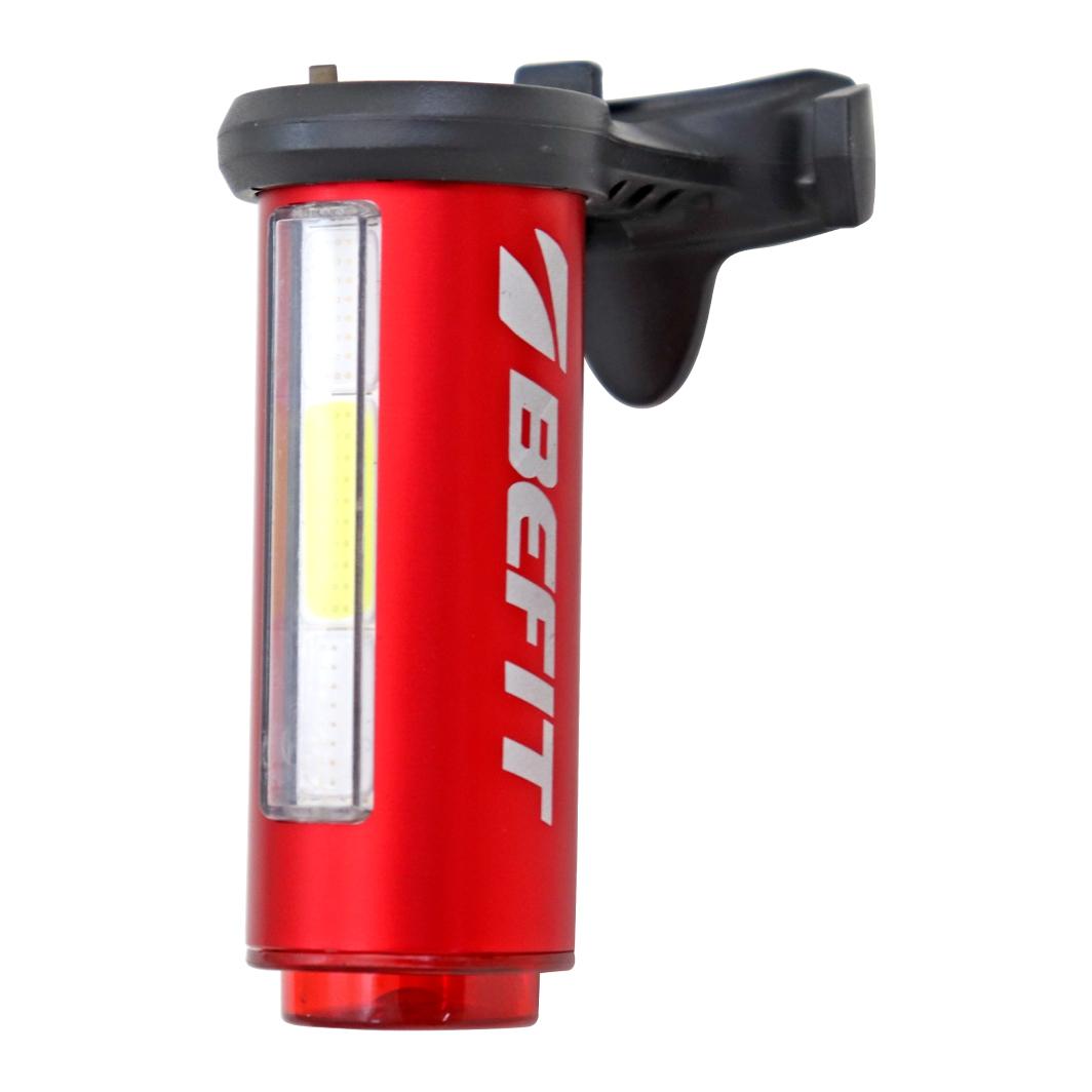 Lanterna Traseira 3XCOB100 lumen Azul/Vermelho/Branco USB