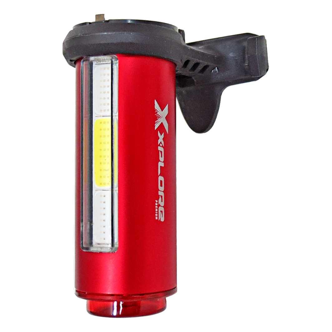 Lanterna Traseira 3XCOB80 Lumens AZ/VM/BR USB