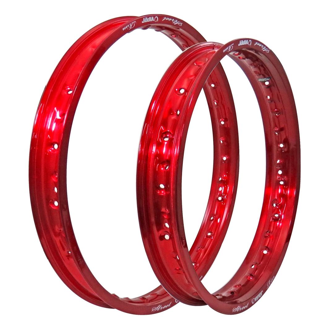 Aro Aluminio Dianteiro/Traseiro 185x21/215x18 Street Vermelho