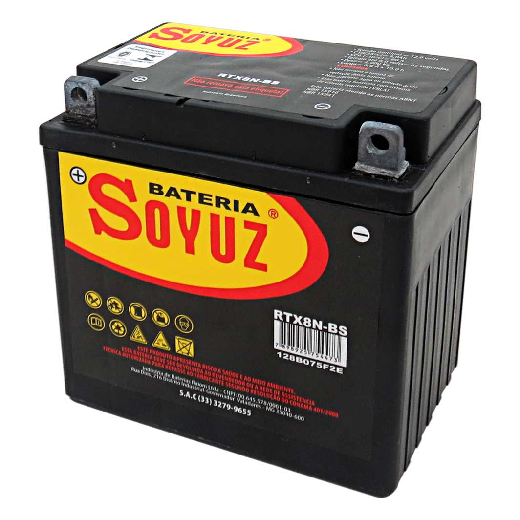 Bateria RTX8N-BS 12V 8AH YES 125/INTRUDER