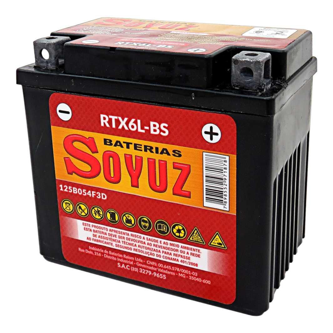 Bateria RTX6L-BS 12V 6AH TITAN 150 ESD/XR