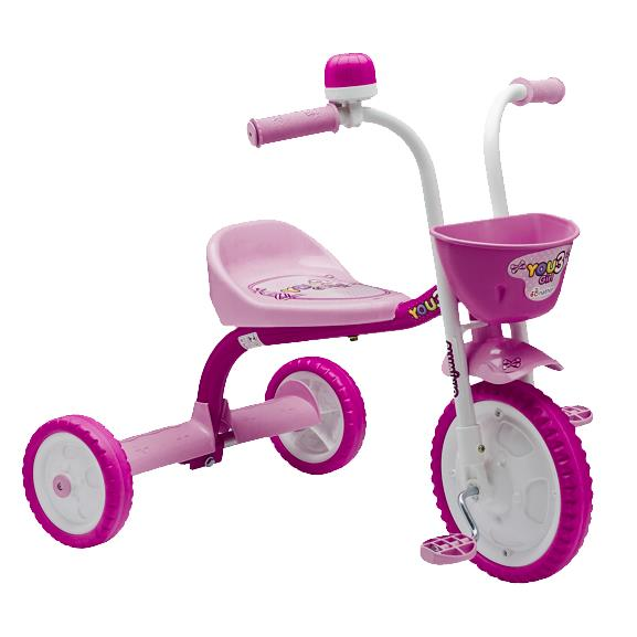 Triciclo Aro 5 You 3 Girl Rosa/Branco