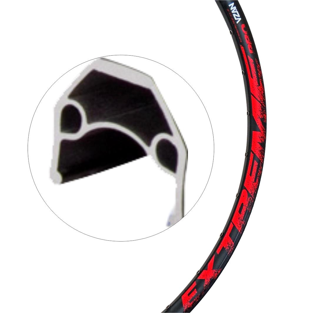 Aro Aluminio 29 Extreme 36f Disco Preto/Vermelho