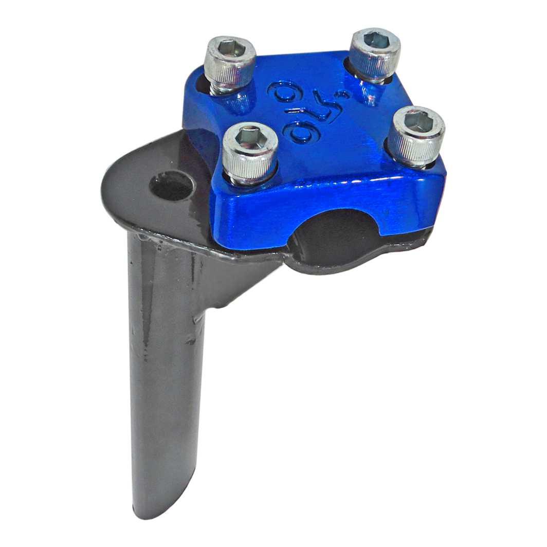 Suporte Guidão Aluminio Aço 4 Parafuso BMX Top Azul