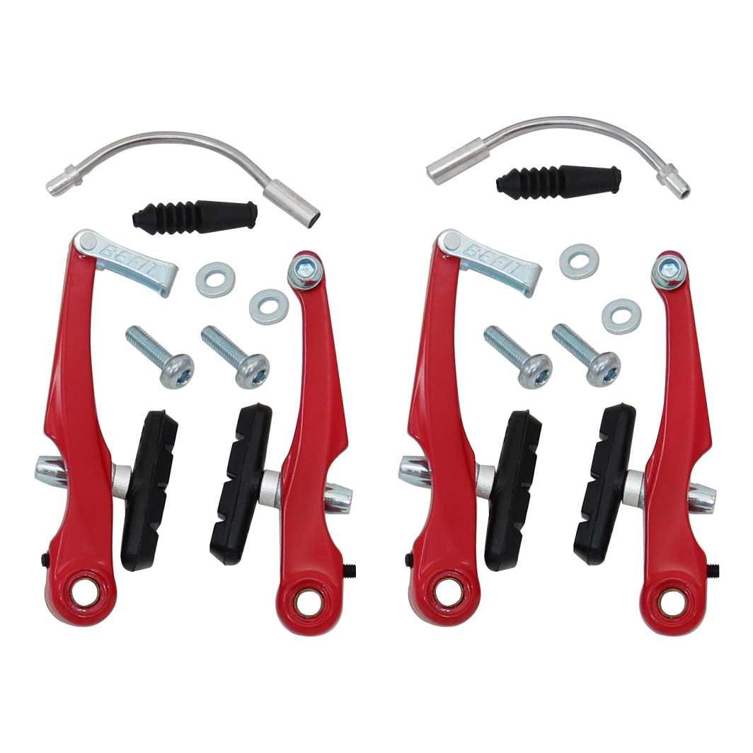 Freio V Brake Aluminio Vermelho Ajustavel