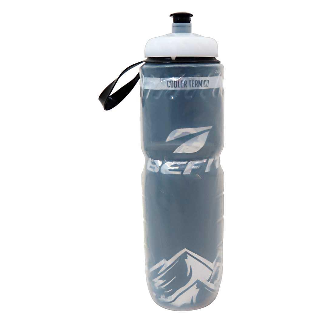 Garrafa Térmica 750 ml Transparente Preta