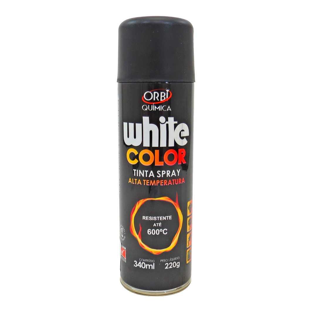Tinta Spray Preto Fosco 340ml Alta Temperatura